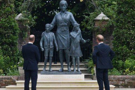 diana prinsesse statue sønner