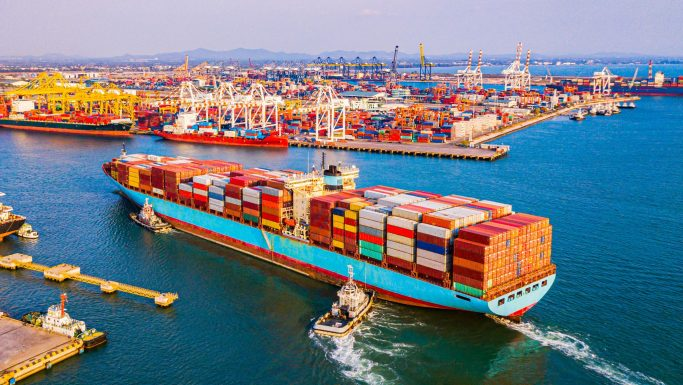 skib container havn