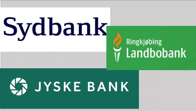 negativ rente jyske bank sydbank ringkjøbing landbobank